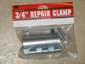 Repair clamp for water pipe leak. This was a life saver! This is a must have for older homes. Didn't find out about this until the last time we had a leak. This would definitely rank in my top 10 helpful pins. Super fast, super easy and super cheap!!!!