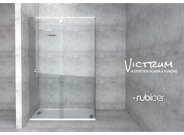 An ecologic solution! Rubicer's shower screen with anti-calc treatment.  #victrum #resguardo #anticalcario #higiene #limpeza #eco #interiordesign #bath #water #render #glass #modern #simple #aesthetics #function #design #user #rubicer