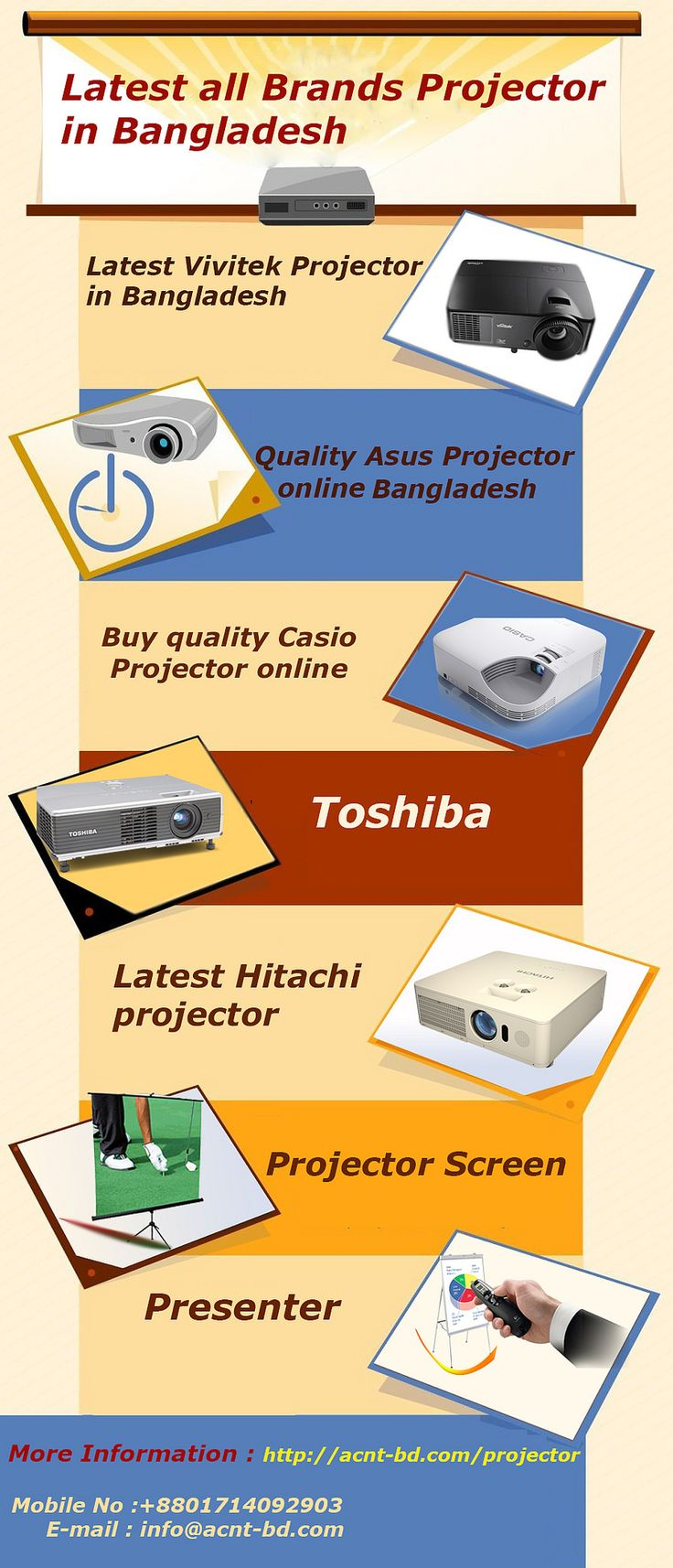 https://flic.kr/p/TkqinG   Latest all Brands Projector Price in Bangladesh   Acnt-bd.com is providing latest all brands projector price in Bangladesh, offering Asus, Casio, Benq, Toshiba, Hitachi, Projector Screen price in Bangladesh