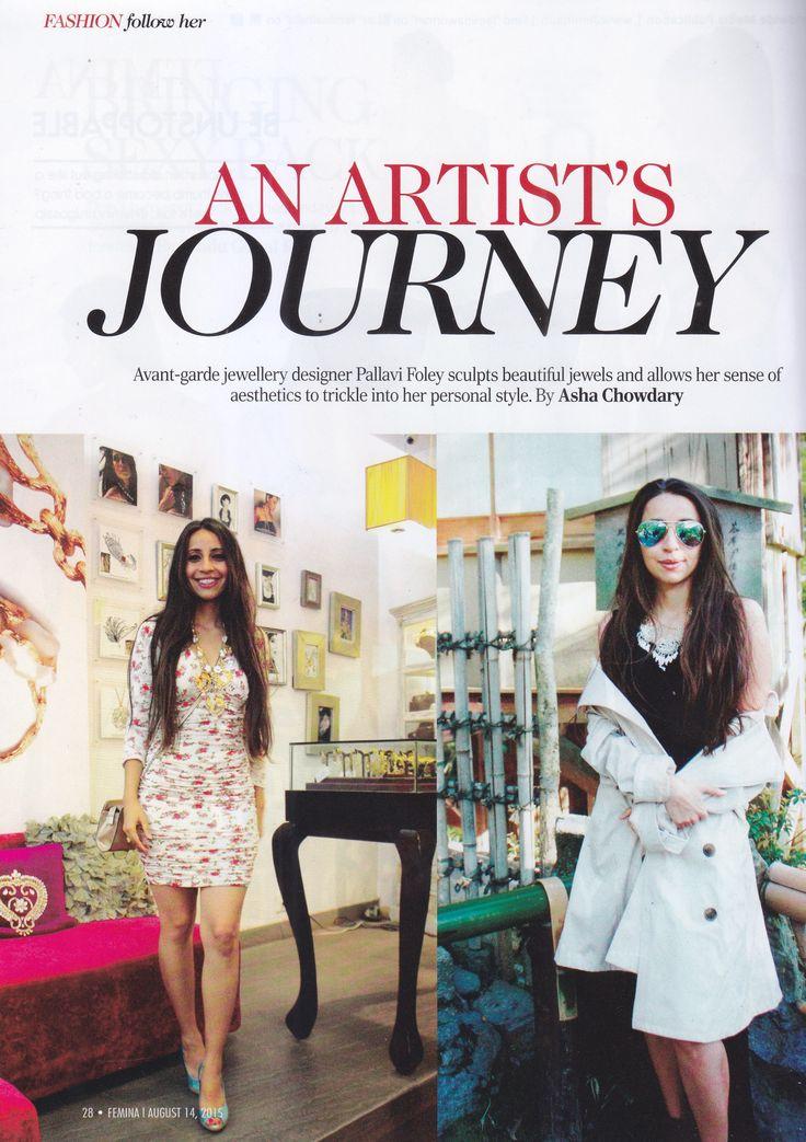 Featured in Femina magazine 2015 august #designstudio