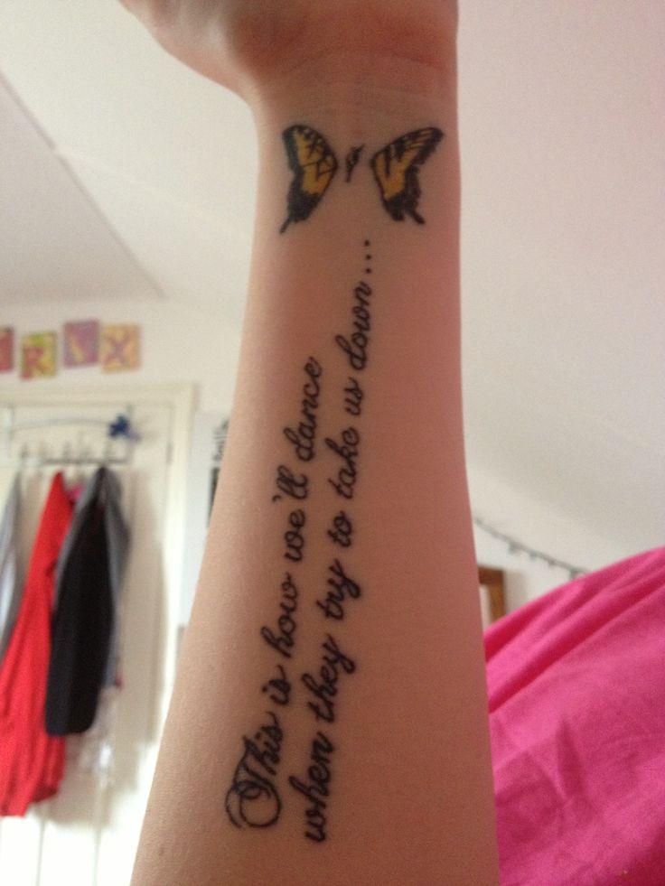 Lyric brand new you won t know lyrics : 20 best Paramore Tattoo images on Pinterest | Paramore tattoo ...