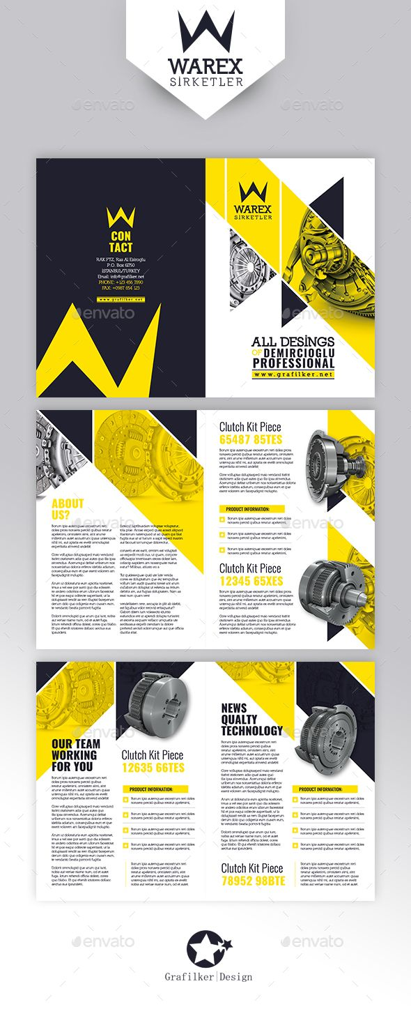 Technical Data Brochure Template PSD, InDesign INDD