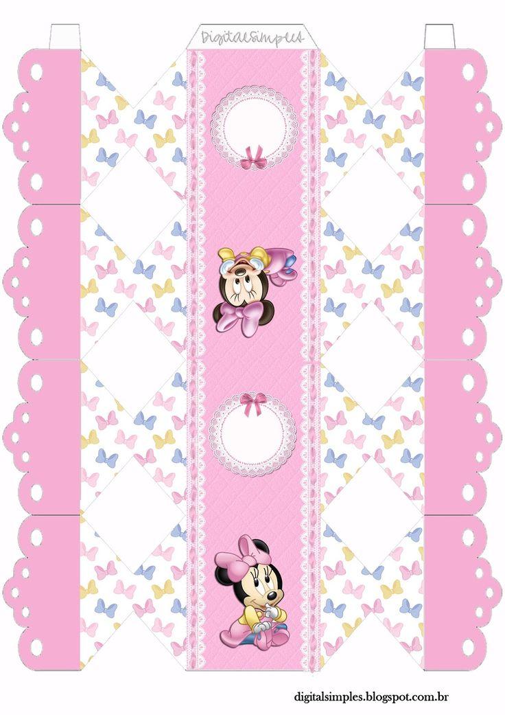 Kit De Personalizados Quot Minnie Mouse Baby Quot Para Imprimir