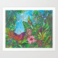Art Print featuring The Three Secrets of the Selva by Juliana Kroscen