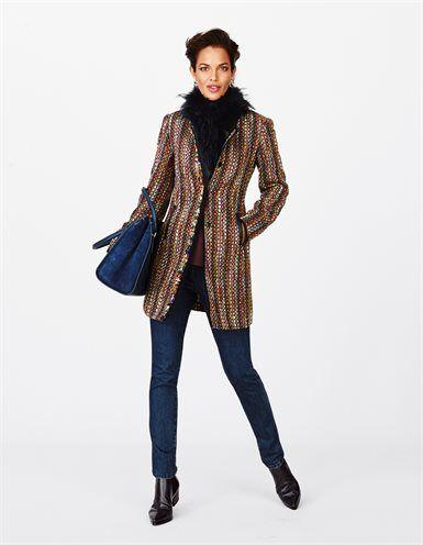 Красочные Женская сюртук с бахромой краев, цветные джинсы, размер, кружева дамы сапоги из натуральной кожи с упругой, проклейки шелковую блузку с круглым вырезом и 3/4 рукавами, меховой шарф из Finnraccoon