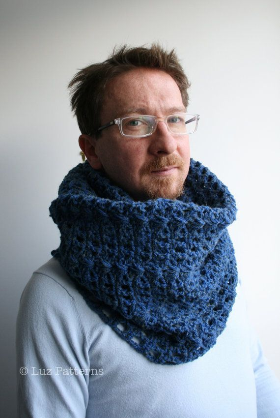 Crochet Pattern Girl Women Men Lace Cowl Pattern Scarf Crochet