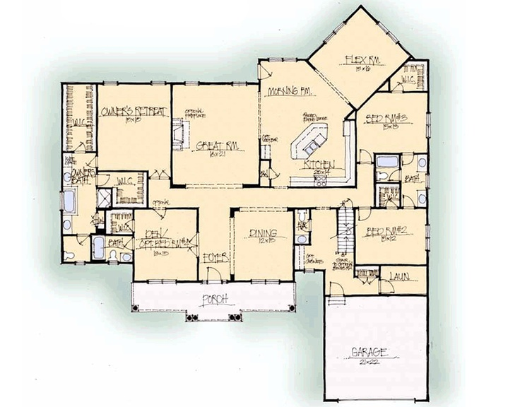 Custom Home Builder Floor Plans: Schumacher Homes: Floorplans - Woodbury Series