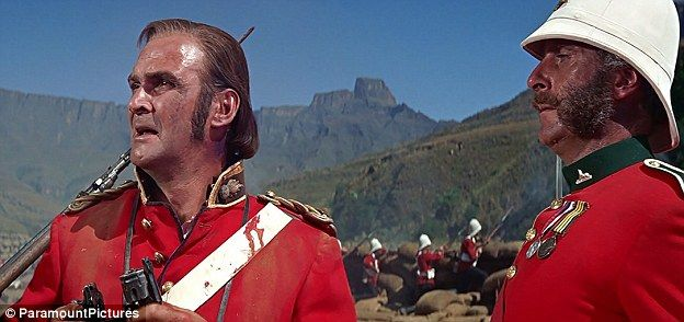 The name of Rorke's Drift led to the much-loved film starring Stanley Baker (left) who pla...