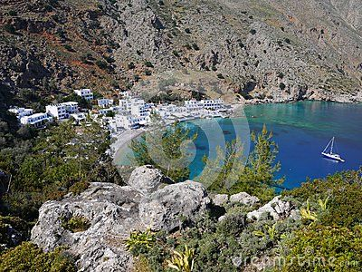Small Loutro village, Crete, Greece