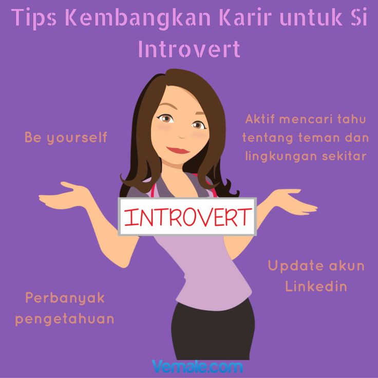 Dear introvert, semoga info ini bermanfaat!  #vemaledotcom #ruangvemale #sharingajasis #good2share #vemalegrafis #infografis #introvert #work