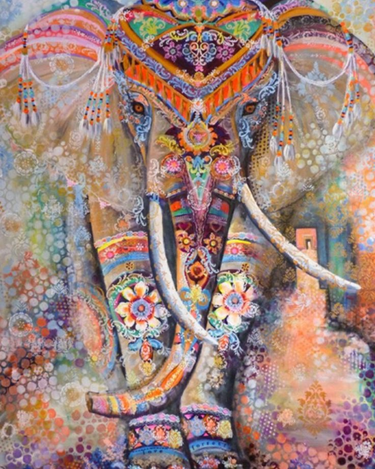 Indian Elephant Painting 17 Best ideas a...