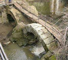 Un ponte di epoca augustea sul fiume Crèmera dimenticato e sommerso dalla fanghiglia. E' sul tragitto che Augusto faceva per andare alla villa della moglie Livia a Prima Porta