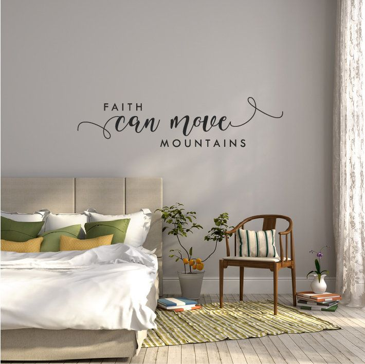Bible Verse Wall Decal Quote Bedroom Scripture Wall Sticker Above ...