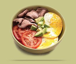 Hidden menu at Panera. Low-carb options not on the menu board, including Power Breakfast Egg Bowl with Steak.