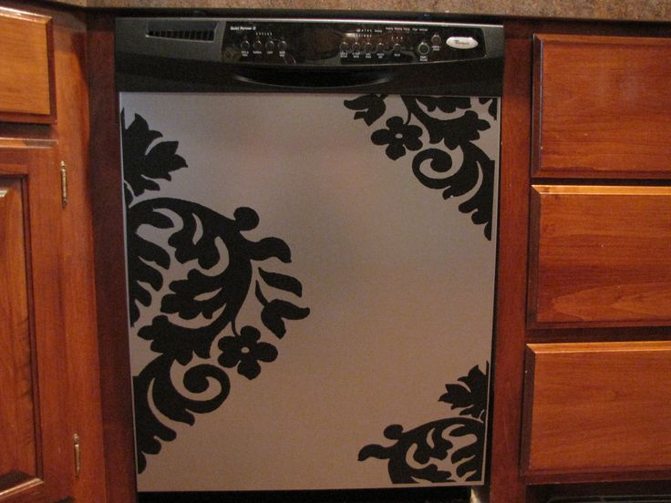 Appliance Vinyl Decal-Large Damask. $19.50, via Etsy.