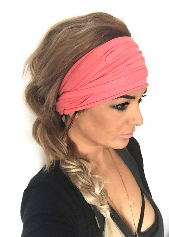 how to use headbands to style hair coral scrunch headband wide headband turban 7019