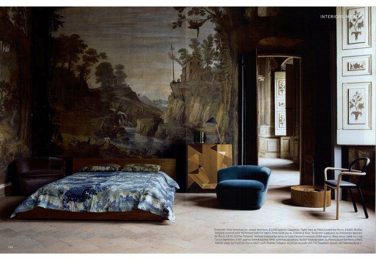 I prodotti Porro per la zona notte nella camera da letto di The World Of Interiors - Porro Spa