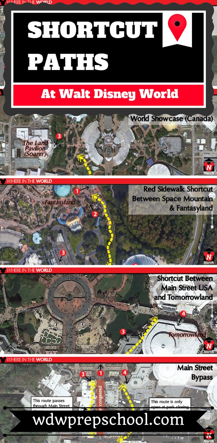 Want to walk fewer steps or maybe avoid some of the heaviest crowds? Check out these shortcuts and paths at Disney World | Magic Kingdom | Epcot | Hollywood Studios | Animal Kingdom