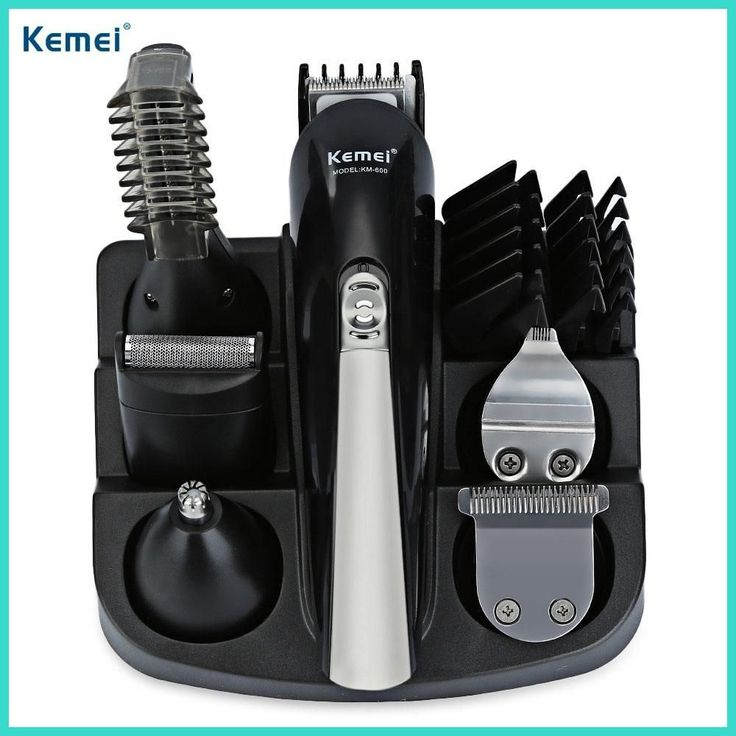 Kemei KM - 600 Professional Hair Trimmer 6 In 1 Hair Clipper Shaver Sets Electric Shaver Beard Trimmer Hair Cutting Machine #HairTrimmer