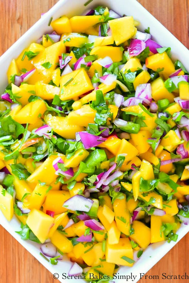 Mango Salsa recipe from Serena Bakes Simply From Scratch.