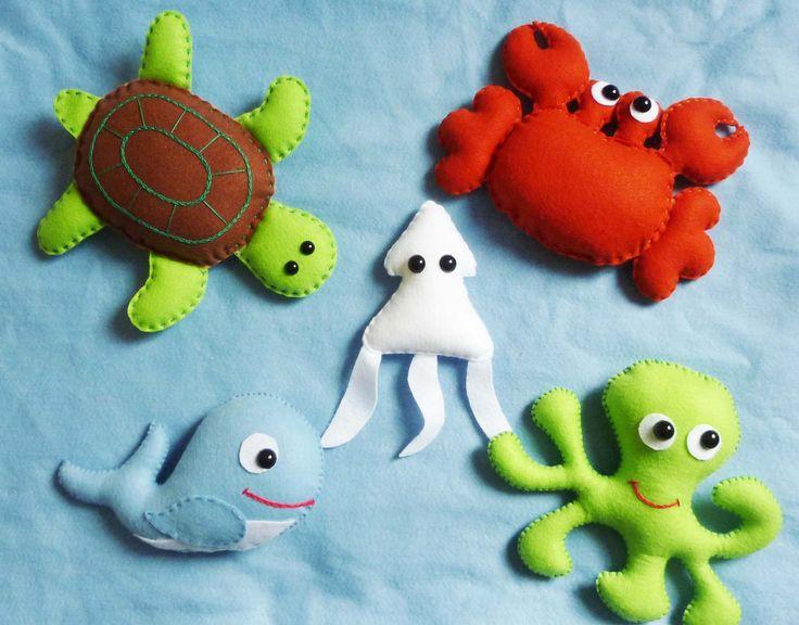 bichinhos de feltro fundo do mar - Pesquisa Google