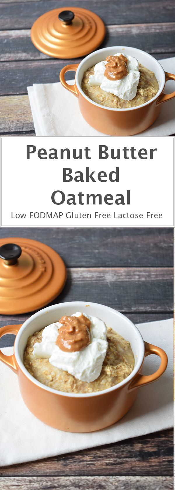 Baked oatmeal with liquid peanut butter on the inside. Breakfast doesn't get…