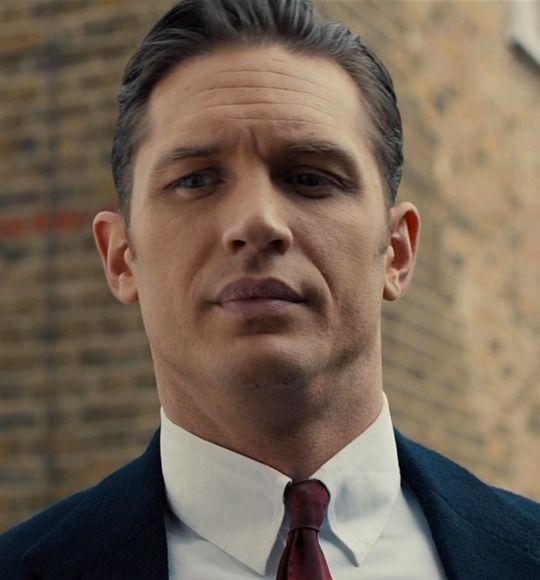 """Tom Hardy as Reggie Kray in """"Legend"""""""
