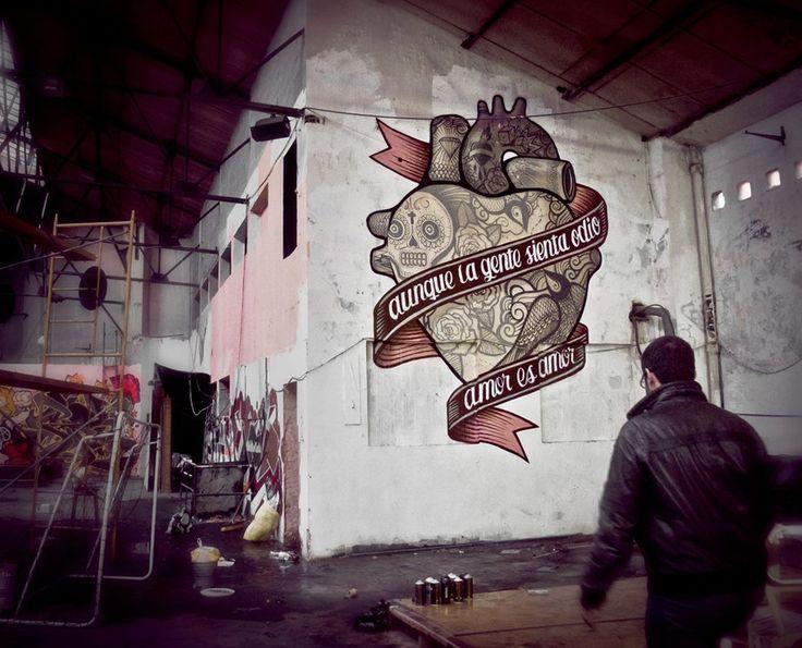 madrid heart graffiti - Google Search