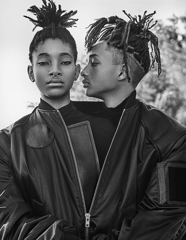 Os irmãos mais fashionistas do momento Willow e Jaden Smith estão na capa da revista.