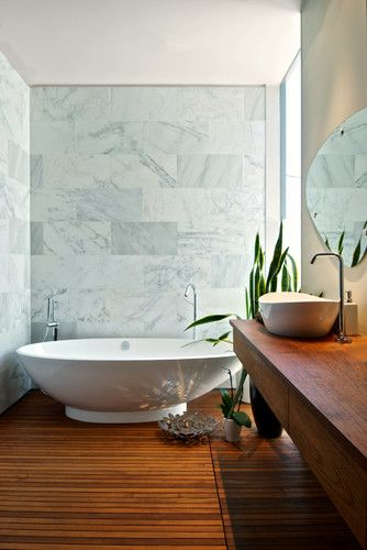 Teak Bathroom - modern - bathroom - toronto - Andrew Snow Photography