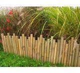 Bordure de jardin en bambou naturel multi hauteurs