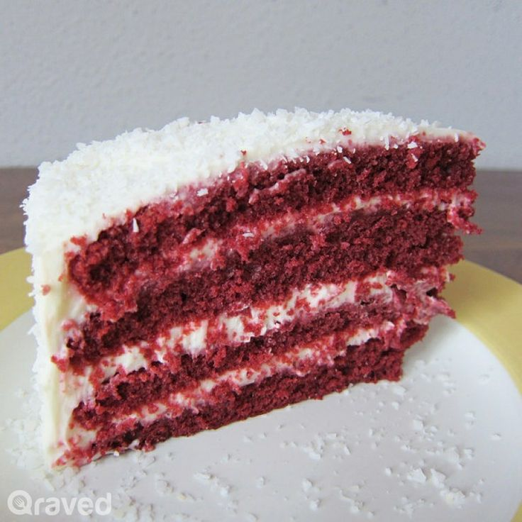 Red Velvet Cake at Convivium Café Deli