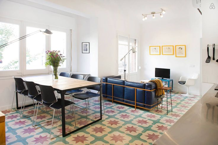 #airbnb #barcelona  Cosy&Bright 3bd flat Montjuic Wifi