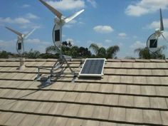 Hybrid Wind/Solar Power Generators for Homes. Energy of moving air is used to generate electrical power