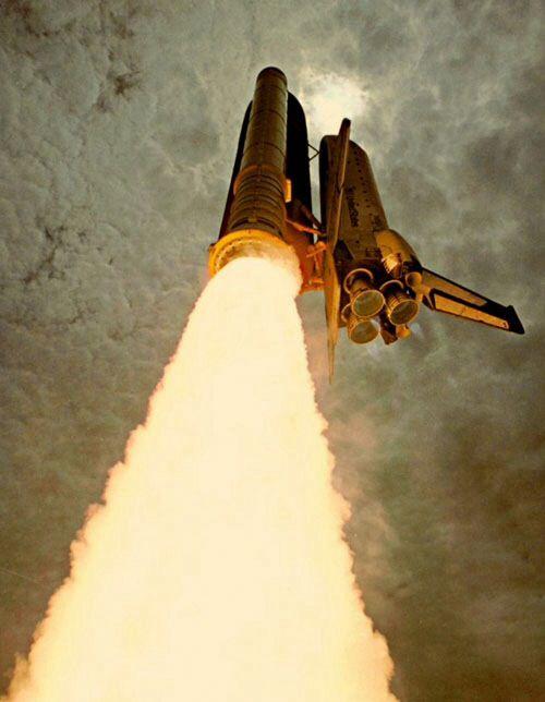 NASA night launch.