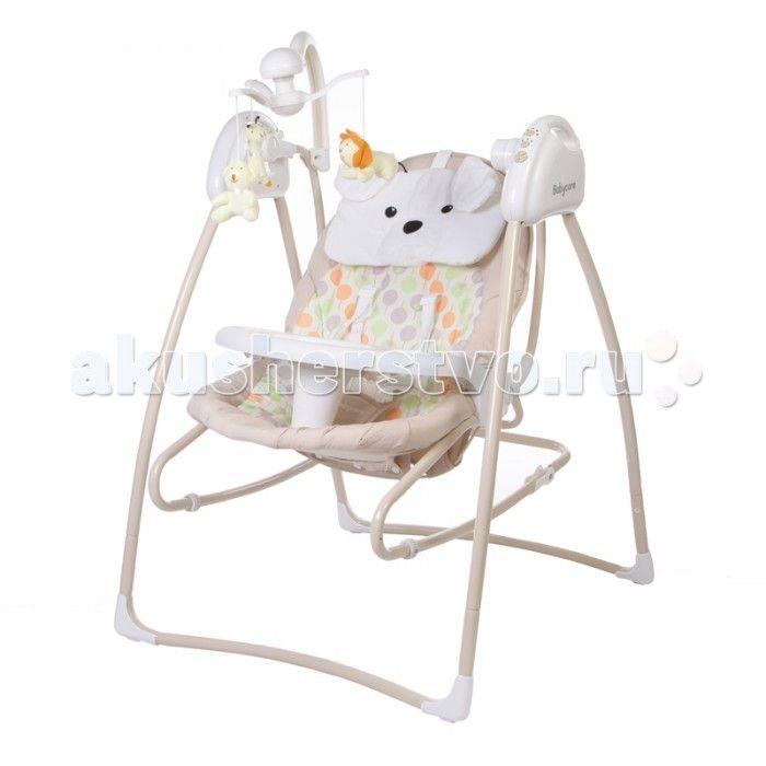 """Электронные качели Baby Care Butterfly 2 в 1 с адаптером  Baby Care """"Butterfly"""" 2 в 1 - стильные электрокачели для новорожденных. Очень мобильная модель предназначена специально для родителей, которые не сидят на месте.   Имеется 3 положения спинки. Качели оснащены вибро-музыкальным блоком с таймером. Блок проигрывает 12 мелодий c регулировкой громкости. Имеется 5 скоростей укачивания. Электрокачели могут работать как от сети, так и на батарейках. Кроме того, в комплекте съемная дуга с…"""