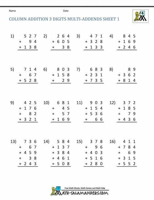 7+ 4Th Grade Addition And Subtraction Worksheets - -  #4thgradeadditionandsubtrac… In 2020 Addition And Subtraction Worksheets, Addition  Worksheets, Free Math Worksheets