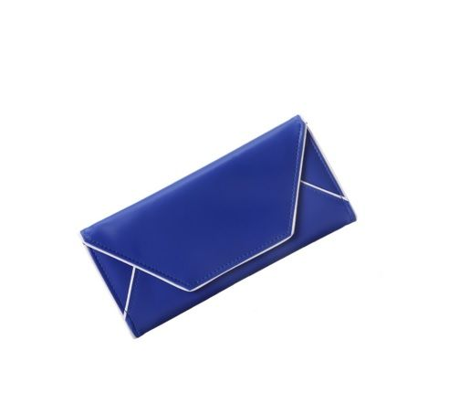 Blue Colour Envelope Look PU Women Purse