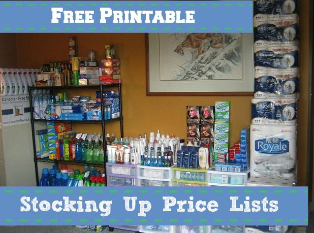 Free Printable Stock Up Price Lists Including Blank Pages: Don't Pay more than Prices! What walmart Regular Price is and a place for you to enter the lowest price!