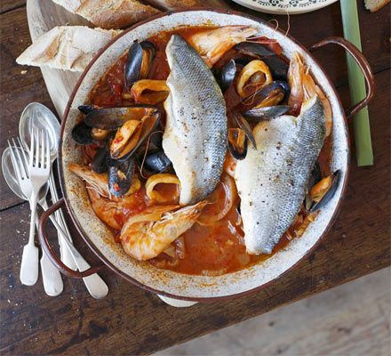 A one-pot fish stew with shellfish and all the fresh flavours of the Mediterranean - serve with plenty of bread for dipping