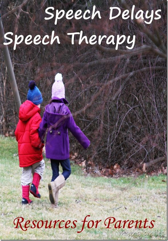 Speech delay and speech therapy resources for parents.