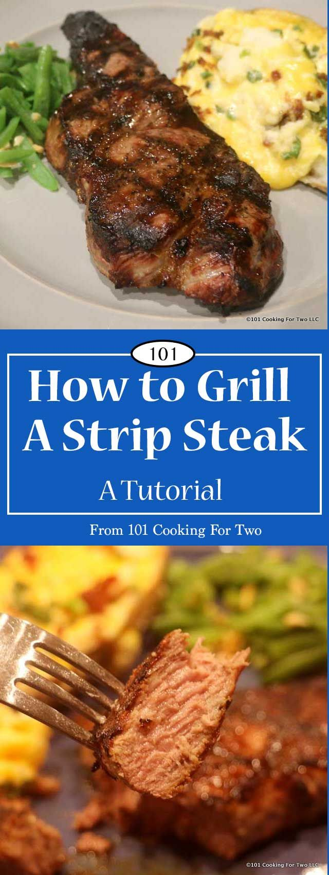 Step by step photo instruction tutorial of how to grill a strip steak on a gas grill.  via @drdan101cft