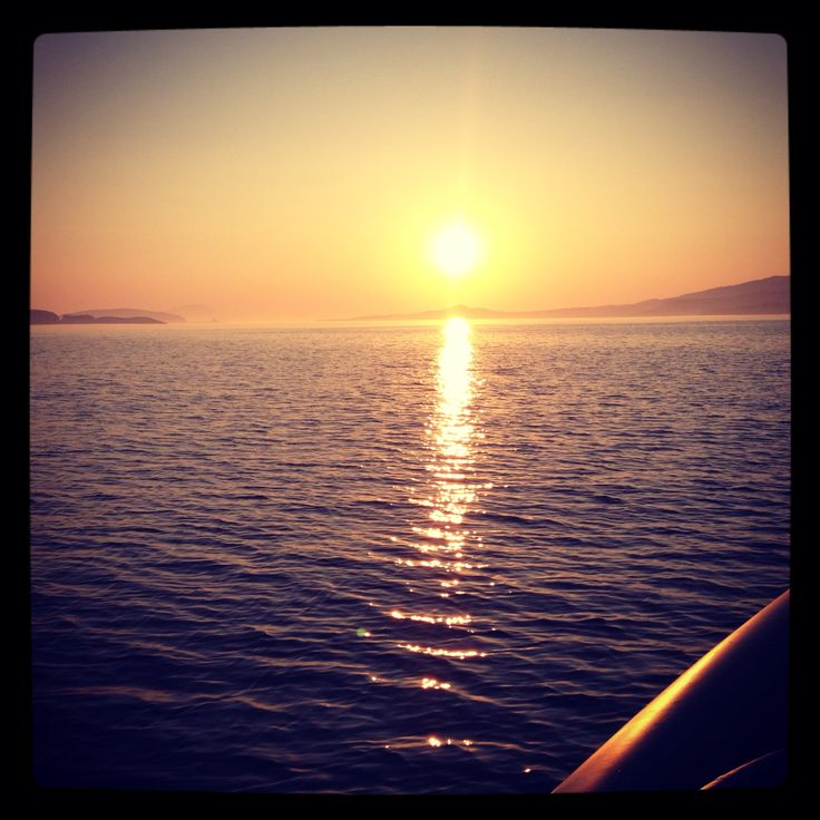 Sunset @the Aegean sea in Greece