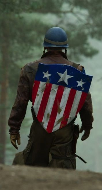 Chris Evans as Captain America. My favorite actor playing my favorite character.                                                                                                                                                                                 More