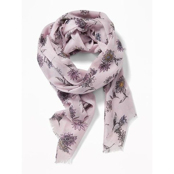 Lightweight Printed Scarf for Women   Old Navy ❤ liked on Polyvore featuring accessories, scarves, old navy, lightweight scarves, old navy scarves, light weight scarves and lightweight shawl