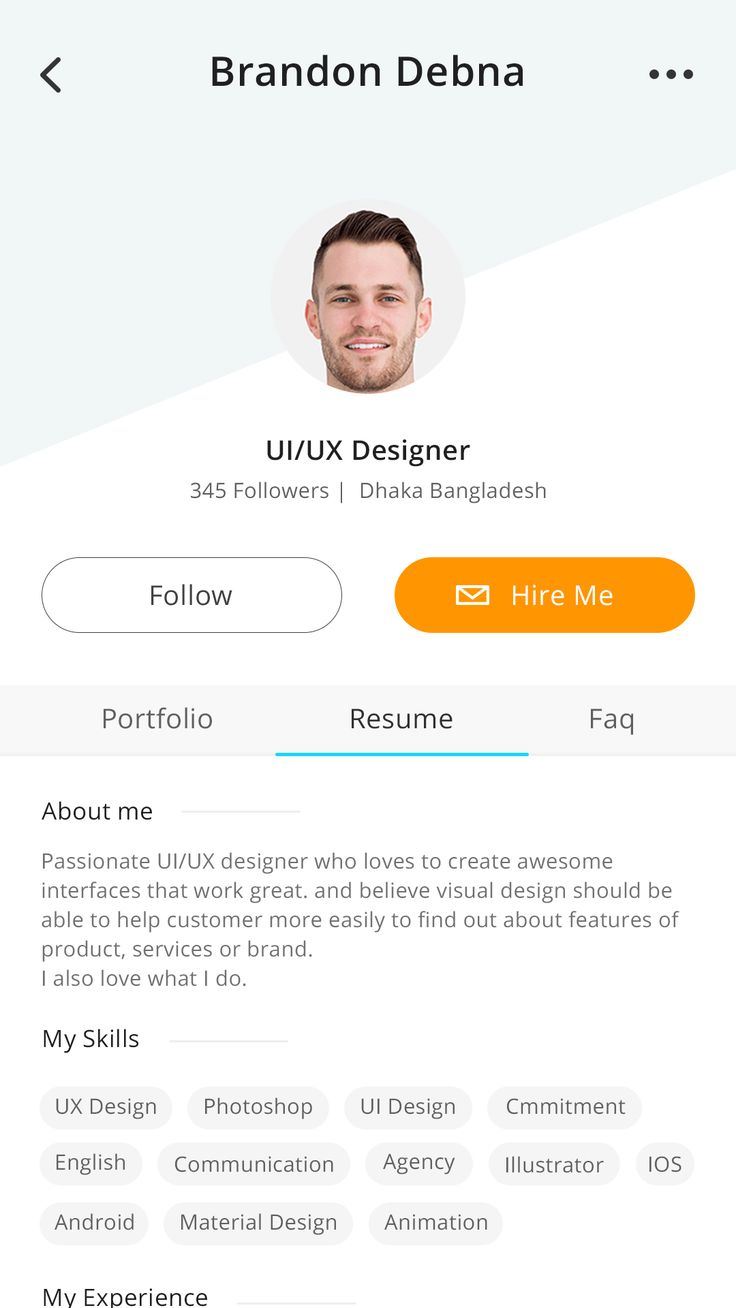 Freelancer Profile | Exploration – User interface by Masum Parvej