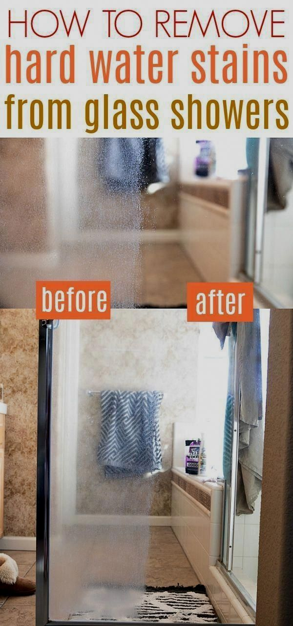 how to clean hard water spots off glass