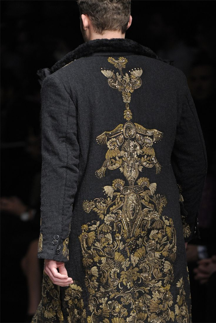 Dolce and Gabbana for men - but I just love the Baroque Embroidery!
