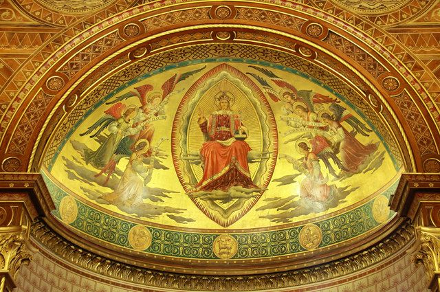 King's College Chapel ~ Apse roof, depicting Christ in Majesty surrounded by angels