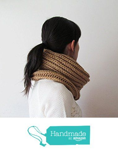 Hand Knitted Cowl in Camel - Chunky Knit Cowl - Neckwarmer - Wool Blend - Made to Order from NaryaBoutique https://www.amazon.com/dp/B01LJK0UR2/ref=hnd_sw_r_pi_dp_WfS.xb1CG8AQF #handmadeatamazon